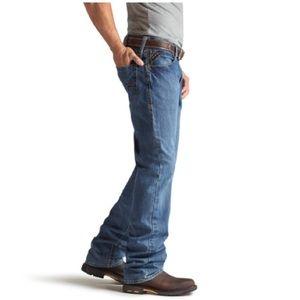 Ariat FR m4 low rise boot cut denim jeans